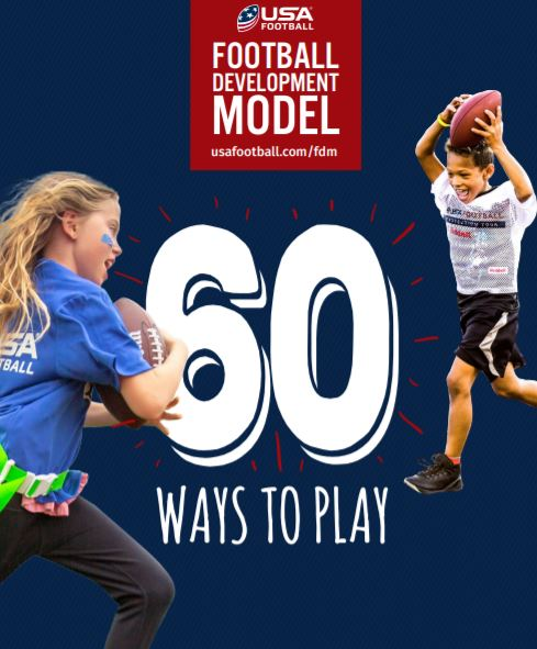 Thanks to @USAFootball, #60waystoplay is an interactive guide with exercises & skills to help develop physical literacy. Check out the free programs at bit.ly/3kL5FrH to create a fun, athletic experience for kids and parents! 🏈
