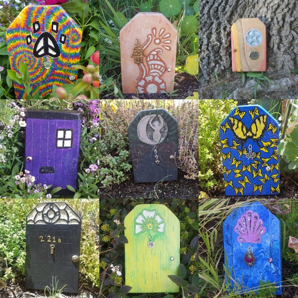 Which door would you choose?   Just some of the #fairydoors you'll find in my #etsyshop: https://t.co/r4a1fDOSFy  #fairycore #GardensHour #GardenersWorld #witchtwt #gardenlife #cottagecore #craftbizparty #handmadehour #inbizhour #womeninbizhour #fairy https://t.co/z5Sfzdg1wD