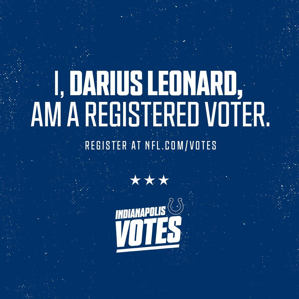 Make your voice heard! Register to vote at NFL.com/Votes #NFLVotes @NFL