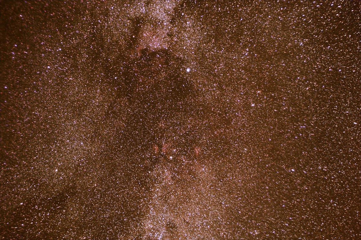 Die Region und Deneb und Sadr im Sternbild Schwan.  1h5min Gesamtbelichtung mit 788 Fotos gestacked.  ISO 1600, f2.5, 50mm.  Nur gestretched und mit den Kurven gespielt. Gibt's noch Tips? @Clearskies_SW @Sternwarte_AC  #Astrophotography https://t.co/9cD4pH3HnQ