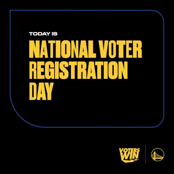 It's #NationalVoterRegistrationDay  You know the drill -- #VotersWin by checking registration status, making a plan, and casting your ballot.  To get started, text WARRIORS to 26797 https://t.co/FyYKoEoUrZ