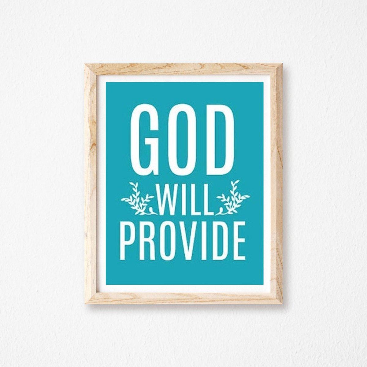 God Will Provide Bible Scripture Christian Art Home Decor, Custom Wall Art https://t.co/IetVcHdpxz #Etsy #truebluedesignco #ScripturePrint https://t.co/Cx70tVpNz0