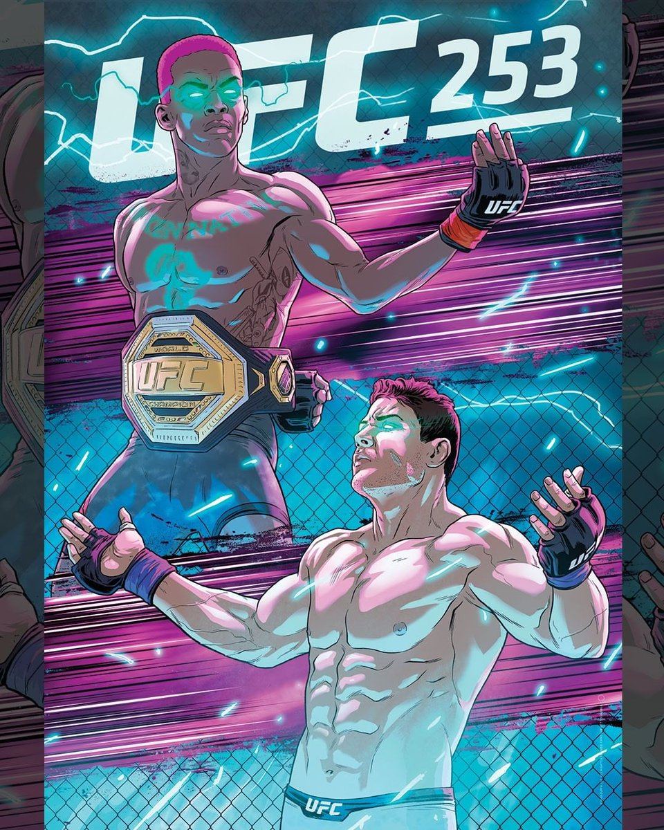 The trend of the UFC working with artists to produce digital event posters continues with #UFC253 (via @RodrigoLorenzoL) https://t.co/4fpCVyUt28