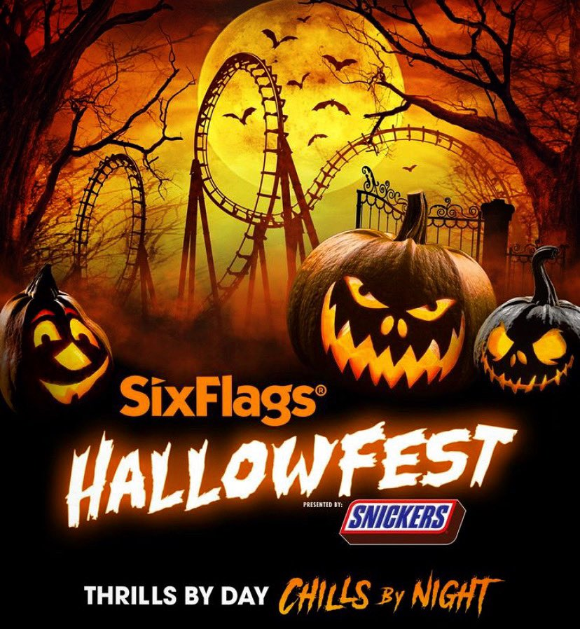 @SixFlags HALLOFEST 2020 Saturday October 17th  LI and NYC Departures! Ticket & Transportation Only $115  Details/Book Now: https://t.co/y4tNHAkv8Z  #Jitney2020 #TravelSafe #StayAndPlay #StayNPlay #Family #Friends #DayTrip #NewYork #NYC #NewJersey #halloween🎃 #hallowfest2020 https://t.co/iTmaU2ljXy