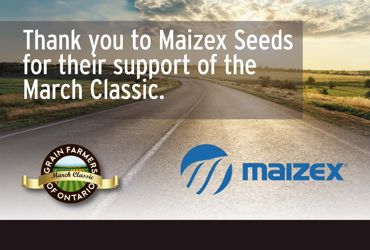 Grain Farmers of Ontario was disappointed the 2020 March Classic was cancelled due to COVID-19 but we are already planning ahead to 2021! We want to thank our industry partners, @Maizex for their continued support!