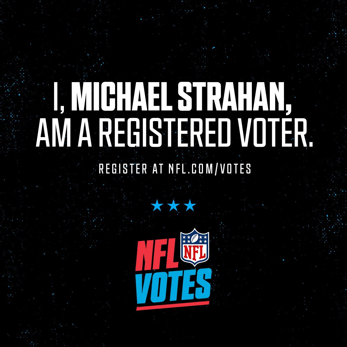 Use your voice and vote! Register today at NFL.com/votes #NFLVotes