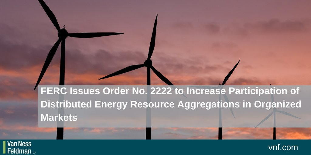 #FERC Issues Order No. 2222 to Increase Participation of Distributed Energy Resource Aggregations in Organized Markets: https://t.co/hBvghdp62B #energytwitter #renewableenergy #SmartGrid https://t.co/gzuLtnjsXt