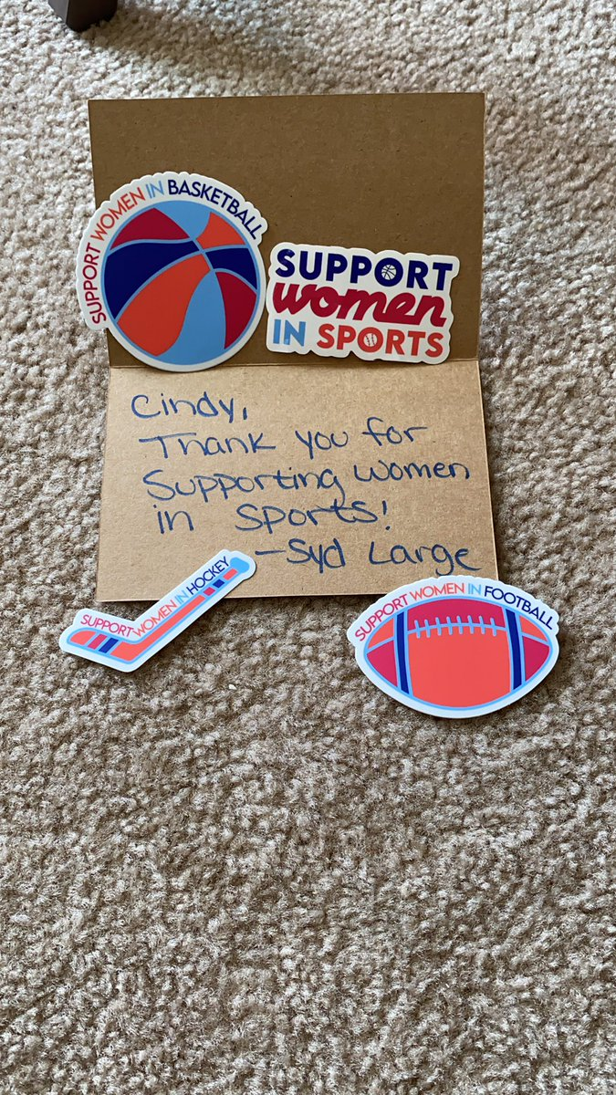 We cannot wait to show these off when we're on the job for @tnndn!  They just arrived and they're awesome!  Thank you @SupportWSports and @sydlarge18!  #womeninsports https://t.co/eT6DJvlR3T