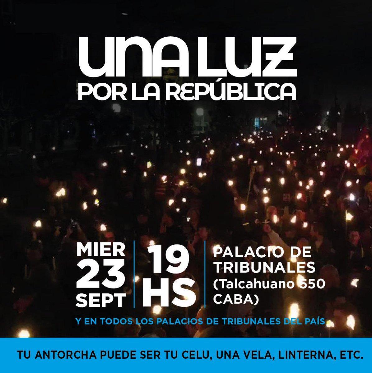 #23S 19:00 hs por la República  #NoALaReformaJudicial #NoALaReformaJudicialK #BastaDeImpunidad https://t.co/kfjihiGxbK