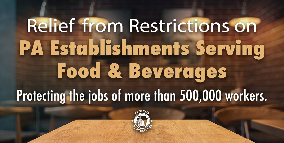 Thank You! #SmallBusiness #PaTaverns and licensed #PaRestaurants are appreciative.