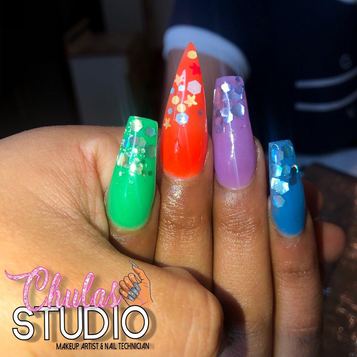 Practice set I did back in August 🥰 ✨DM for Nail Appointments  instagram: @chulasstudio🌸 . . . . . #winstonsalemmua #336makeup #makeuplooks #winstonsalemnailtech #chulasstudio #beatxjocy #winstonnails #ncnails #instagramnails #gboronails #highpointnails https://t.co/uioQ7ZTWOf