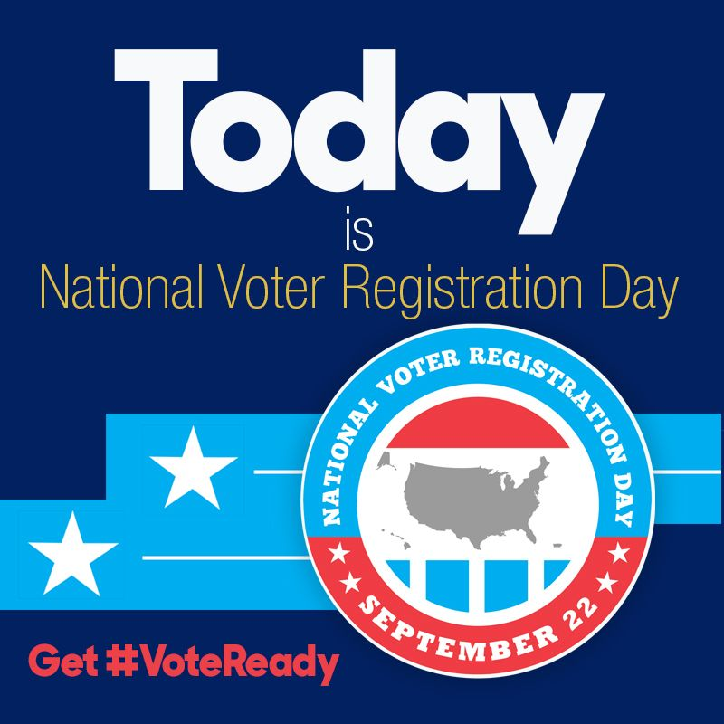 Don't forget to take some time to register to vote today. It only takes a few minutes. 🇺🇸 #VoteReady https://t.co/QngGYr83WR