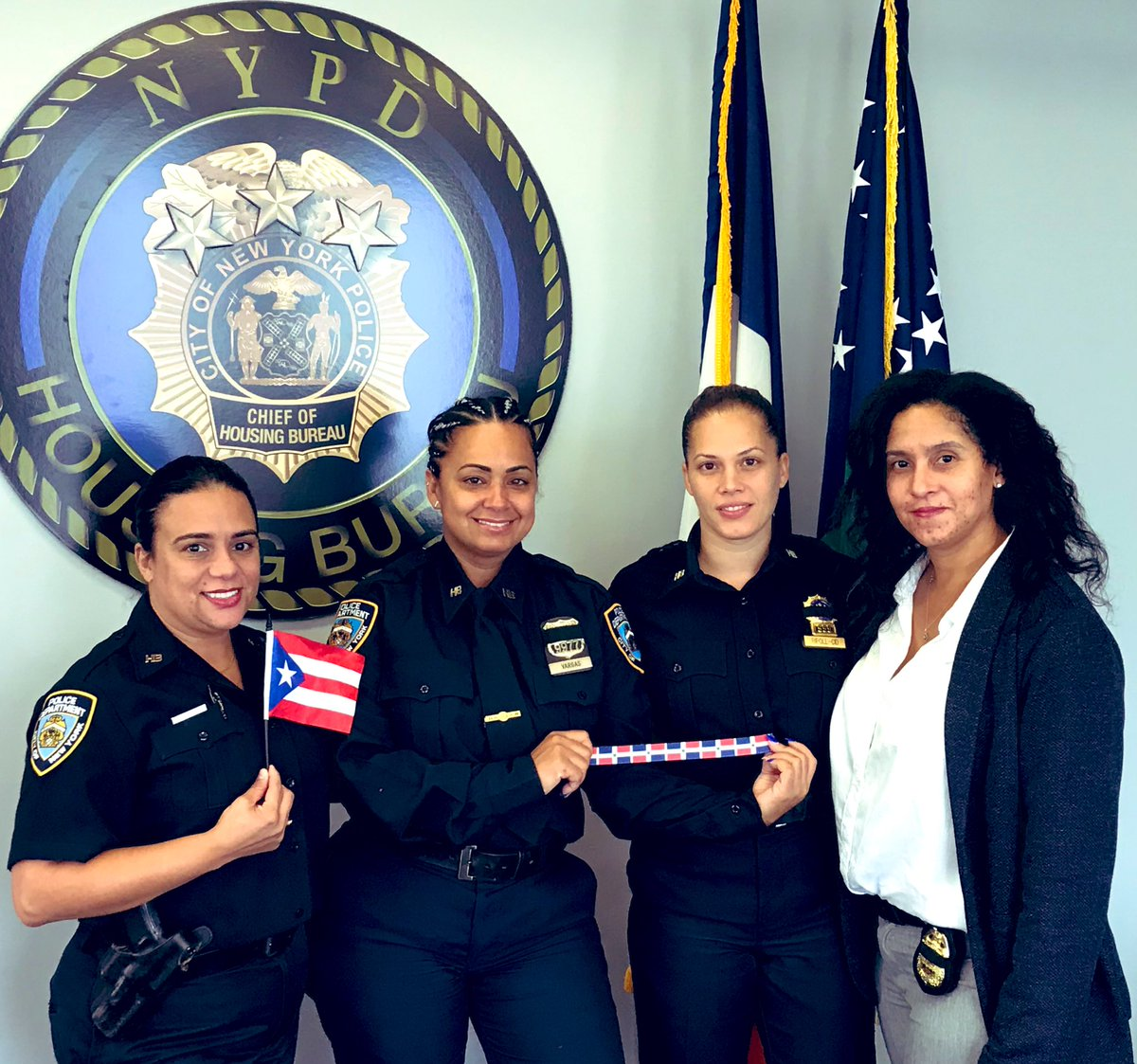 These officers bring over 65 years of law enforcement experience to the Housing Bureau. Thank you for your hard work and dedication. With backgrounds from Puerto Rico to the Dominican Republic we recognize them this #HispanicHeritageMonth2020 https://t.co/Qo1L3f9cxF