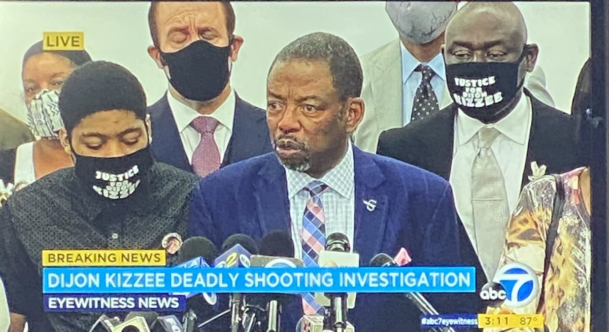 Attorneys for the family of Dijon Kizzee holding press conference on their investigation into his death at the hands of LA Co. Deputies live @ABC7 @abc7davidono @abc7danny #breakingnews #dijonkizzee #abc7eyewitness https://t.co/y5cw97J0p7