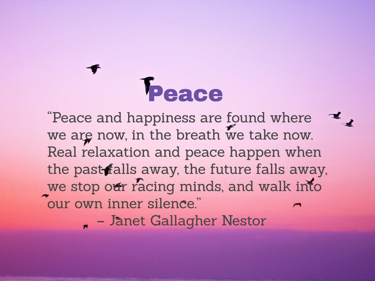 #RadicalSelfCare #Peace #IDWP #Relaxation #MindfulLiving #ThriveTOGETHER #InnerSilence https://t.co/Ddtw0Ro159