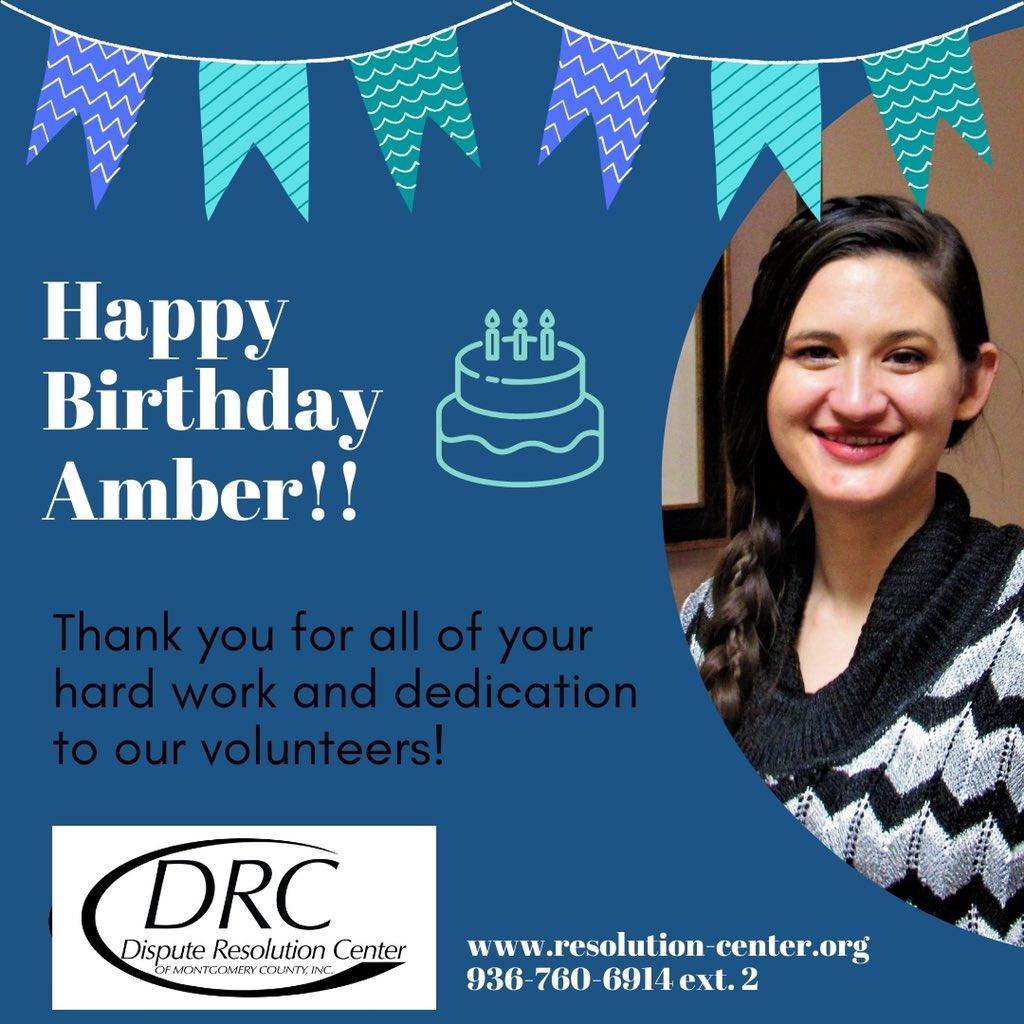 Wishing the happiest of birthdays to our Volunteer Coordinator, Amber!! 🎉🎉 ... https://t.co/voJfQZfVZB 936-760-6914 ... #birthday #celebrate #mediation #onlinemediation #mediateonline #volunteers #volunteer #mediators #community #montgomerycounty https://t.co/qUd4zxGwEk