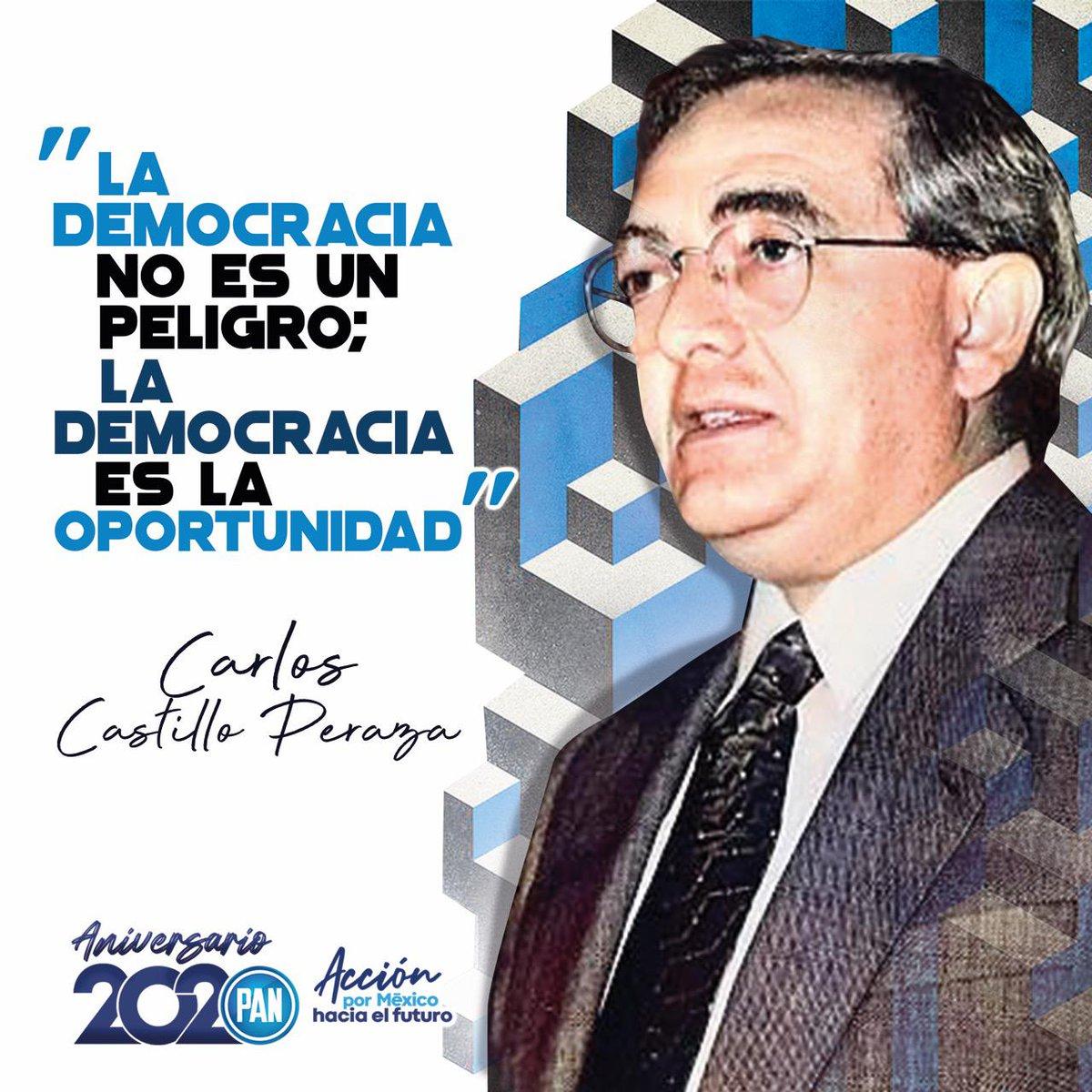 La historia de @AccionNacional es la historia de la democracia en México.   Es la victoria cultural que proclamó Carlos Castillo Peraza.   Honremos nuestro legado y Principios construyendo un mejor futuro #AcciónPorMéxico https://t.co/5Uslu7ZmW8