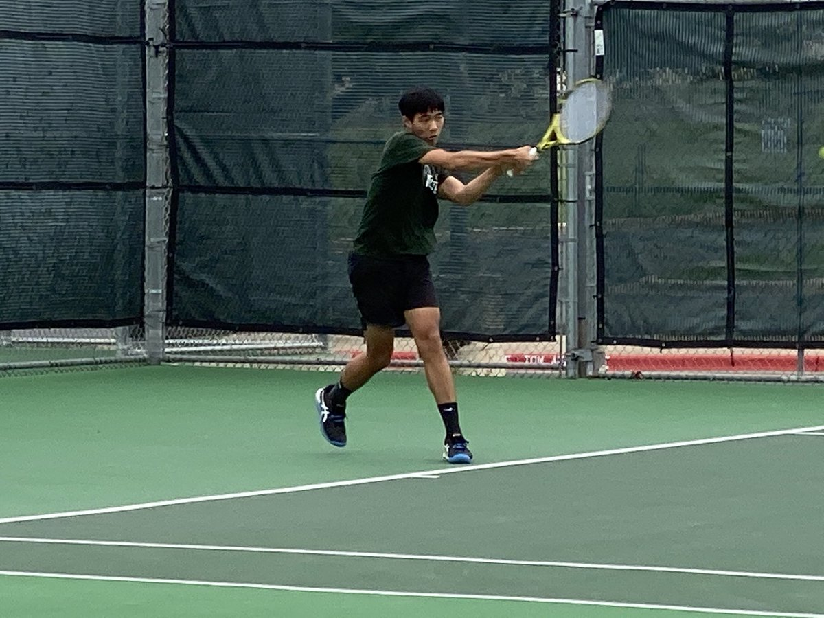 Kevin Diep is leading our 🎾@CHSTennis2  🎾team in their district match vs Weiss. Let's go Cougars!!  @PfISDAthletics @JBConnallyHS #embracethejourney https://t.co/PcFmvtlsgv