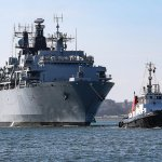 Image for the Tweet beginning: Barrow launched HMS Albion sets