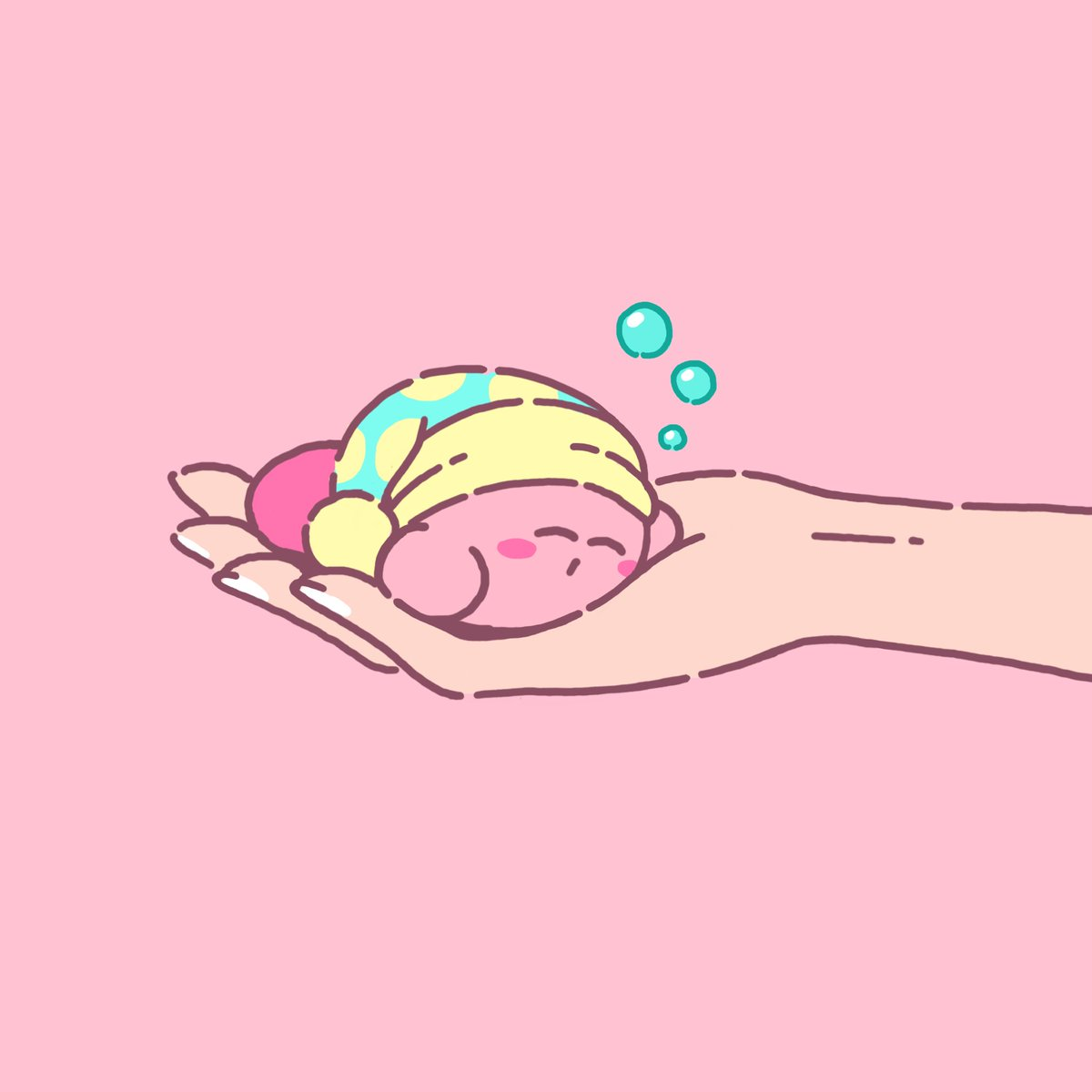 If you find a sleeping Kirby, move carefully so as not to disturb