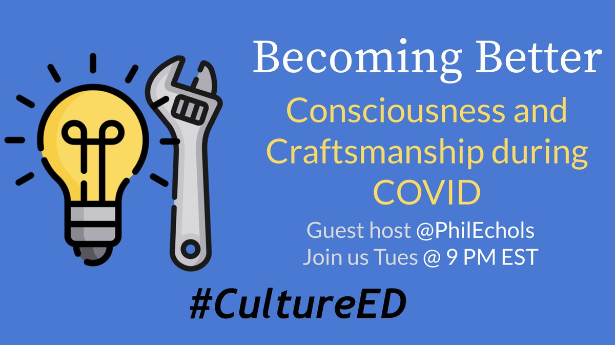 Join us @9pm EST #CultureED 🔥🙌🏾