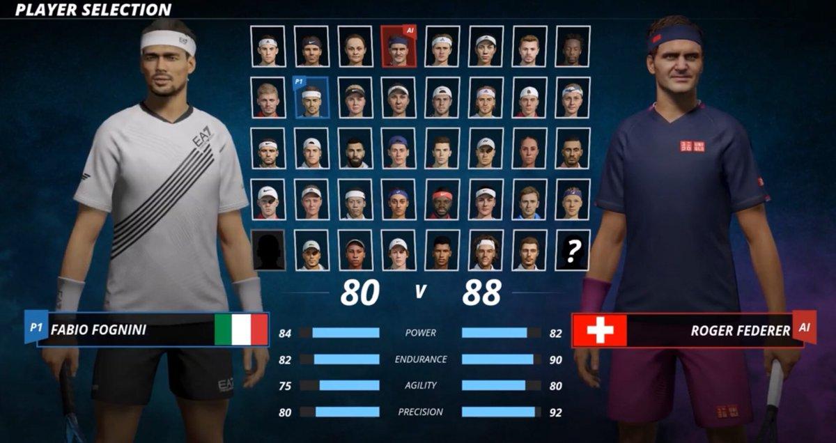 #Fognini vs #Federer in #TennisWorldTour2 https://t.co/EkIuO2PnnE
