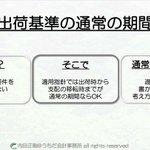 Image for the Tweet beginning: #出荷基準 #通常の期間 #収益認識 #会計 #わかりやすく