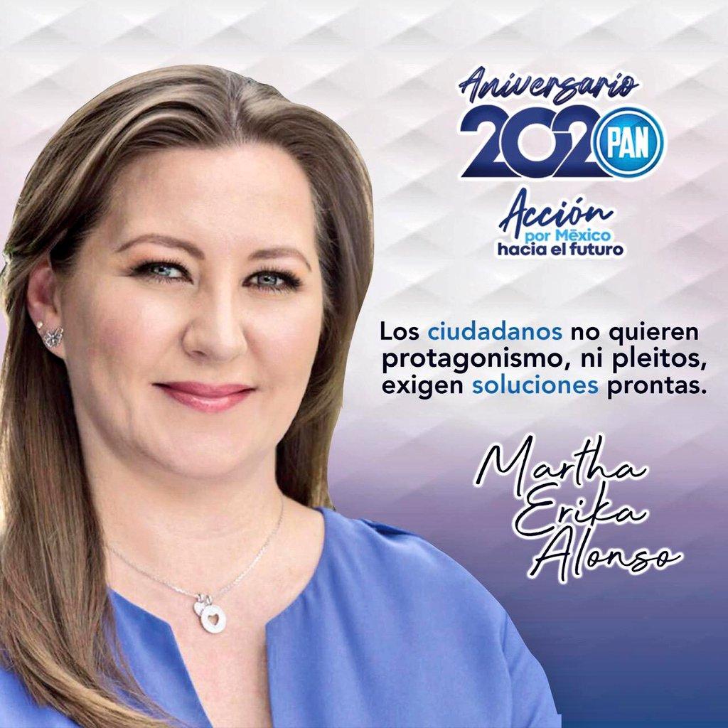En este #81Aniversario de @AccionNacional recordamos con orgullo a la primera gobernadora del PAN en nuestro país: Martha Erika Alonso.  Reconocemos su legado en favor de las mujeres de #Puebla y #México. #AcciónPorMéxico https://t.co/wNuX7mzkq1