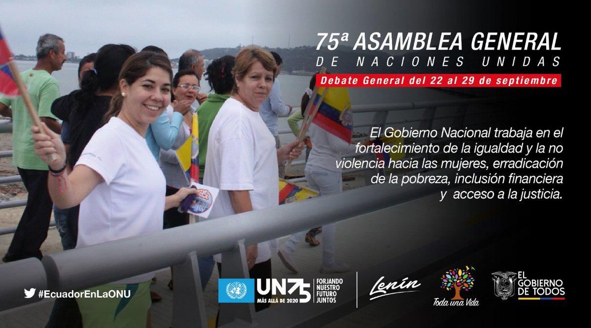 #EcuadorEnLaONU | El canciller @LuisGallegosEc, participará en la IV Conferencia Mundial sobre la Mujer, donde reiterará la prioridad del Estado ecuatoriano para promover el empoderamiento de la mujer y la igualdad de género. #UNGA75 🇺🇳 https://t.co/fNtRyUgId0