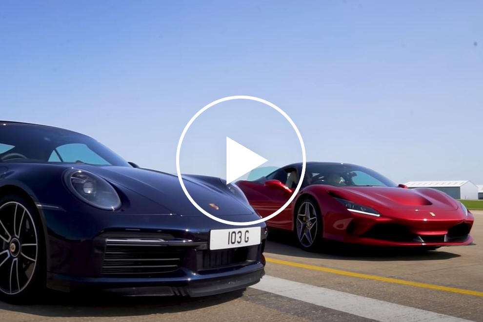 CarBuzzcom check out @CarBuzzcom for great images: #Porsche911 #porsche ... Drag Race: @ferrari F8 Tributo Vs. @Porsche 992 Turbo S Carbriolet. Which one can get the power down? #supercars #video Read: https://t.co/j6qVa0G4kk https://t.co/Da9PQTNL9O