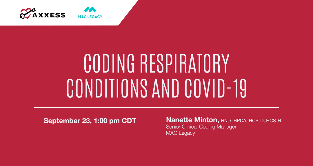 We're teaming with @askmaclegacy to give you a second opportunity to hear the ICD-10 #coding changes that go into effect October 1, this time focusing on #respiratory conditions.  Join us here: https://t.co/tNWGPwCBLR  #Medicare #CMS #homehealth #RN #NursesofTwitter #MedTwitter https://t.co/GGIsTZjuhQ