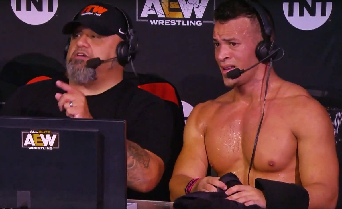 The look you give when someone says they don't watch #AEWDark: @OfficialTAZ & @starkmanjones