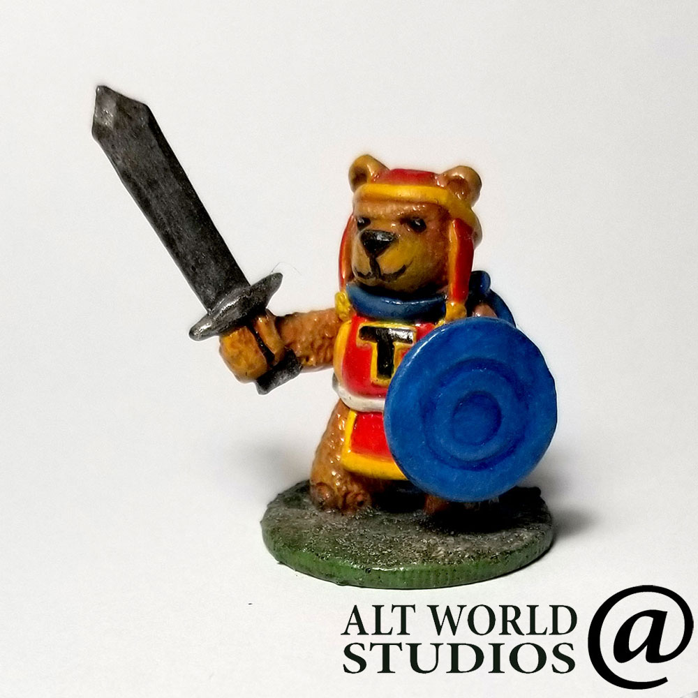 Limited Edition Tristan The Teddy Bear Warrior #Wargaming #Miniature. This mini-hero is perfect to lead your next monster hunting dungeon party.   #tabletopgames #wargames #gamingminiature #dungeonsanddragons #warrior #teddybear #toysoldier  See more at https://t.co/L7VnhvWzZI https://t.co/uzaj7Dqcyz
