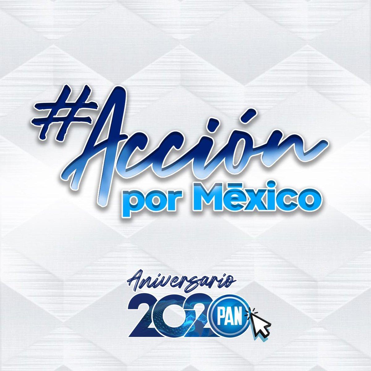 En @AccionNacional celebramos 81 años de luchar por la democracia, por la libertad y por el bien común. Únete a esta celebración en unos minutos, a partir de las 7:00 pm a través de #faceboklive por https://t.co/w7qx4J95m9 ¡En #AccionPorMéxico #UnidosYFuertes! https://t.co/PDgxTKEUis