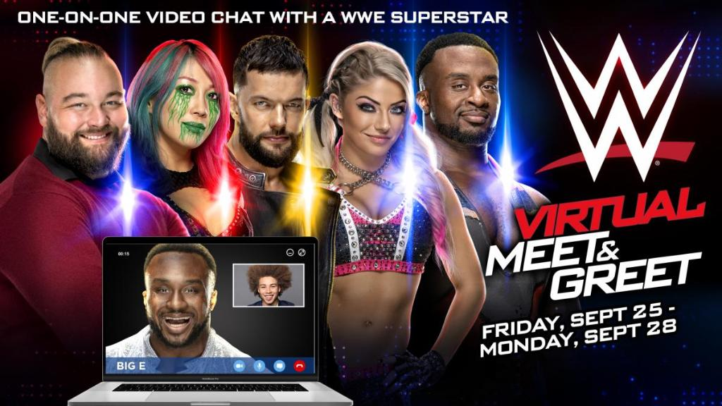 DON'T MISS OUT: #WWEClash of Champions Virtual Meet & Greets! 🏆  Meet your favorite @WWE Superstars in live one-on-one video chats this Friday, Sept. 25-Monday, Sept. 28.   For more info ➡️ https://t.co/zHBRvtc6kg https://t.co/kb9Y9lk6pW