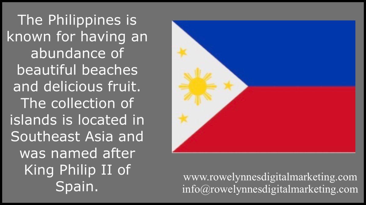 Interesting facts of the Philippines  . . . . .  #LiveLaughLove #Rowelynnes #RowelynnesDigitalMarketing #Happiness #GreatDay #Motivation #Entrepreneur #BusinessConsultant #BeautifulWorld #Positivity #MorningEnergy #Scotland #Philippines #Marketing #DailyQuote #Filipino #pinoy https://t.co/M96uBhaTHi
