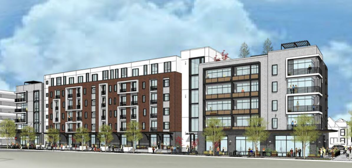 6-story building with 110 apartments planned for that empty lot across from Ice Blocks at 16th and R. Lot has been empty for years! https://t.co/Jt6xTrRPXr