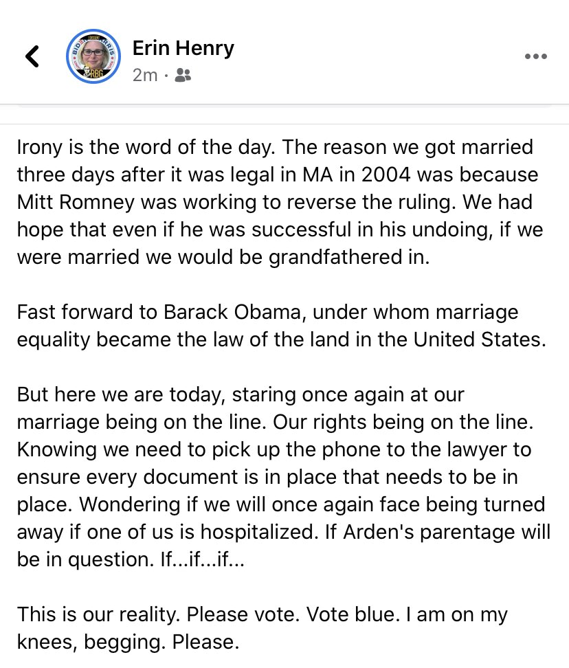 Thanks @Ashlyn_Harris and @alikrieger for using your platform. My thoughts tonight. Dora and I were #couple117 to get our marriage license in Cambridge, MA. This is so real and so personal. #RBG #RBGRevolution #VoteBlue #BidenHarris2020 twitter.com/Ashlyn_Harris/…