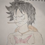 Image for the Tweet beginning: Wano Luffy, not colored and