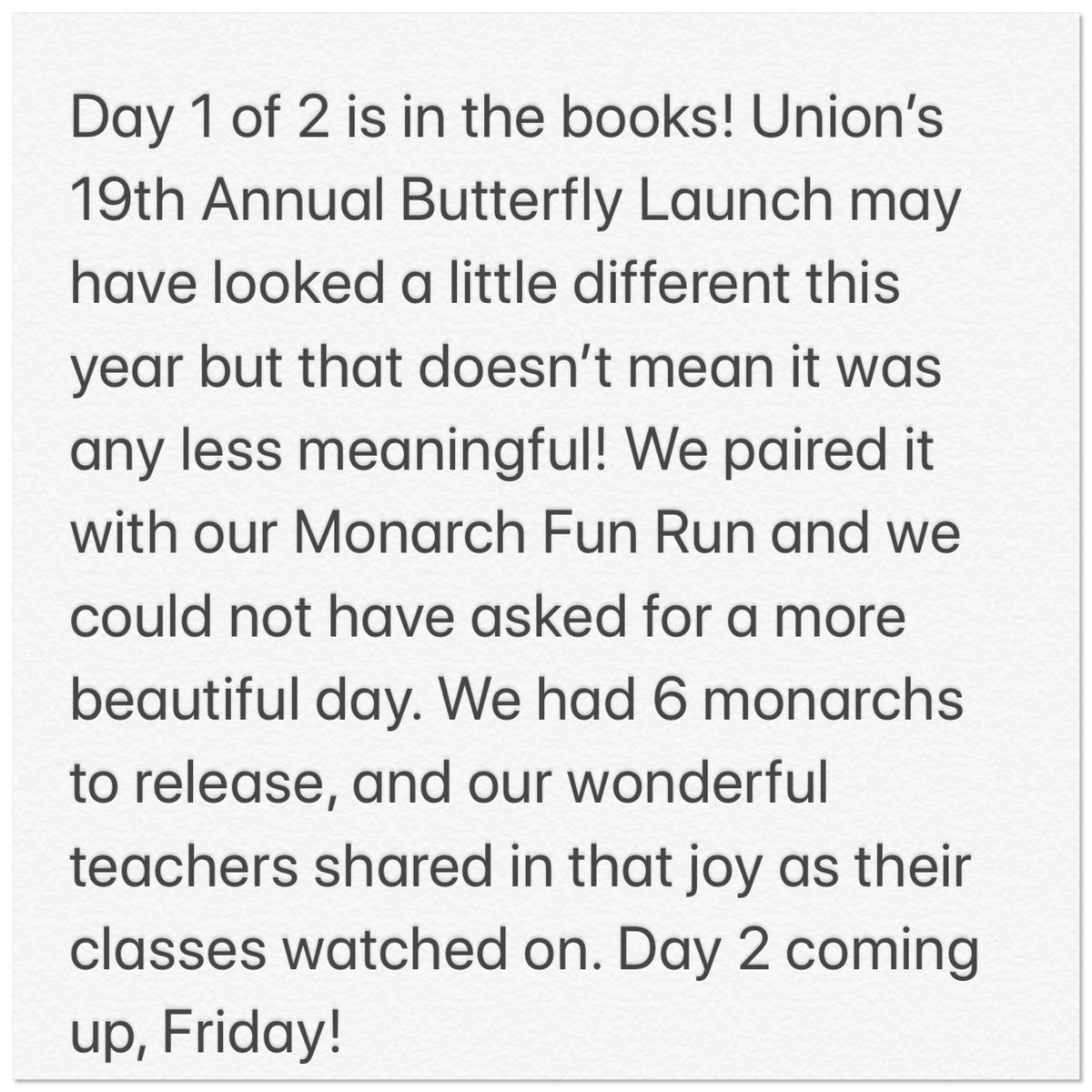 #WeAreUnionSTEAM #Monarchs #LoveOurSchool https://t.co/pi4CpIU0Nt