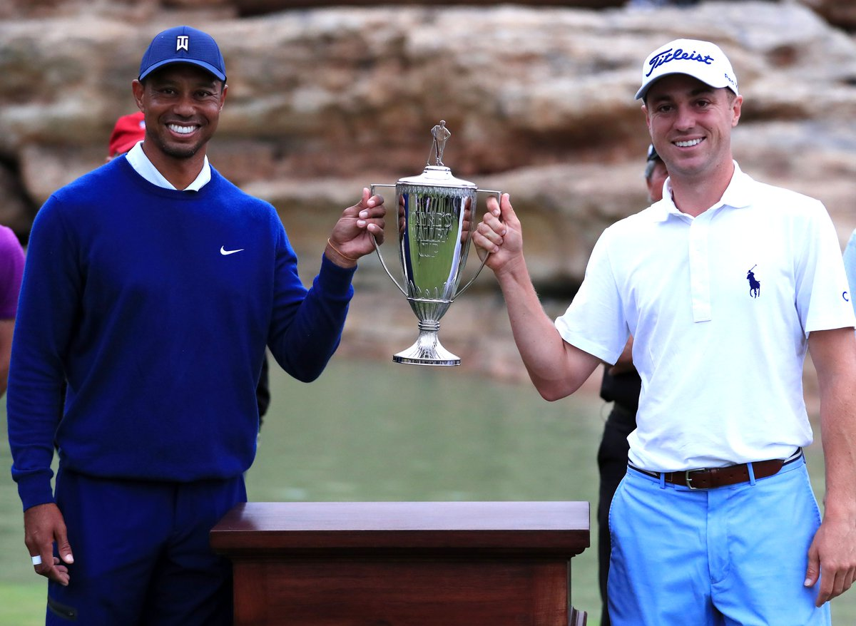 Congratulations to Team USA, @tigerwoods and @justinthomas34, on winning today's #PaynesValleyCup! If you missed all the action, you can catch the replay tonight on @golfchannel starting at 8 p.m. ET. #BigCedarGolf https://t.co/6XMkbGkdVV