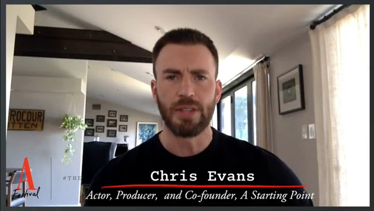 Chris Evans- Actor, Producer and Co-founder, A Starting Point! Sounds so good to my ears. 💙😂 https://t.co/3XsrhtORvL