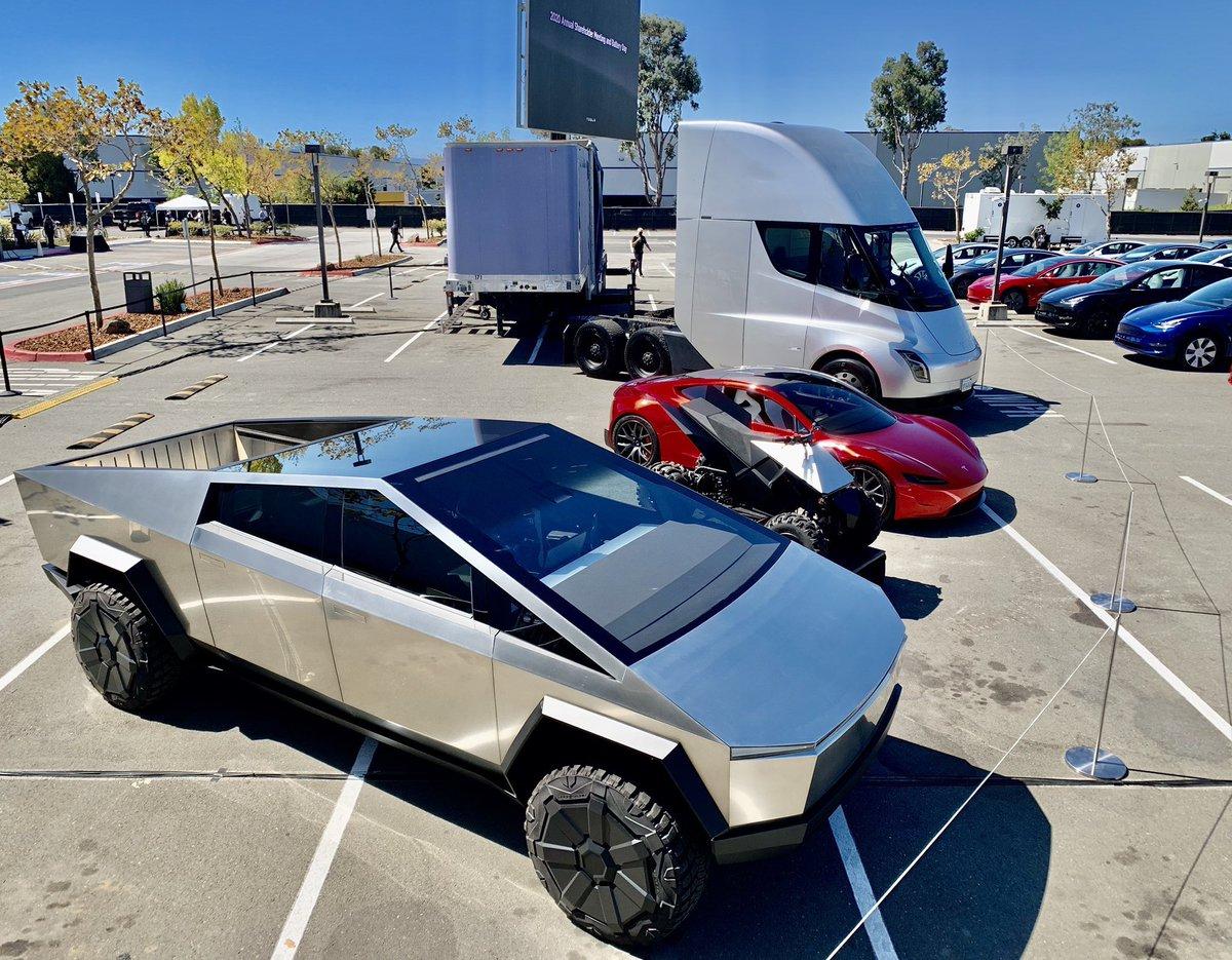 Cybertruck, ATV, Roadster & Semi C A R S https://t.co/4Aq1A5cYkH