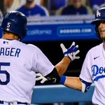 Image for the Tweet beginning: The Dodgers clinched their eighth-straight