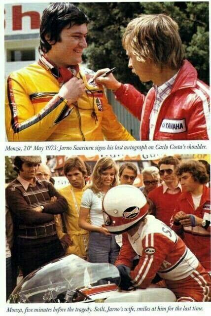 Llega el Gran Premio de las Naciones, el 20 de Mayo de 1973, que se celebraba en Monza. Era la carrera de 250CC, Jarno Saarinen, obtenía la Pole.  Aunque esa carrera, tuvo un desenlace fatal. https://t.co/dMvuaLPuRj