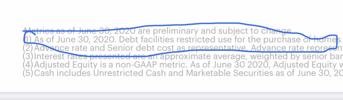 @chamath @Opendoor @ericwu01 @chamath in the presentation it says that as of 6/30 the debt facilities have restricted use for the purchase of homes? https://t.co/x804MJCPMf