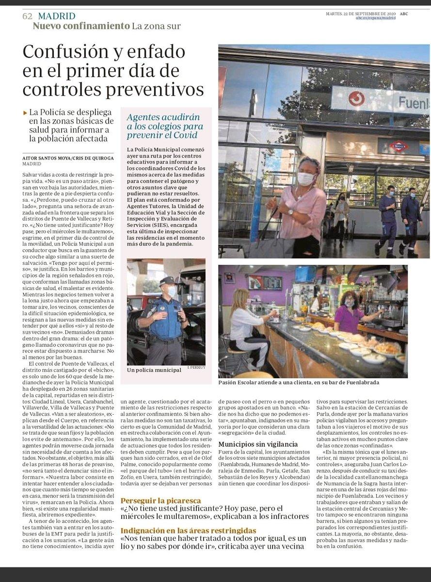 ABC 🗞  Vuelven las restricciones a #Madrid   @DiarioLaPrensa https://t.co/6XQRBlafoA
