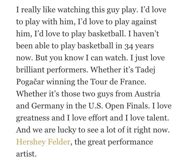 Bill Walton name checking Tadej Pogacar when asked about Jokic is just...Bill Walton. There's no substitute (from @GQmagazine) https://t.co/hyjsRK1eQP