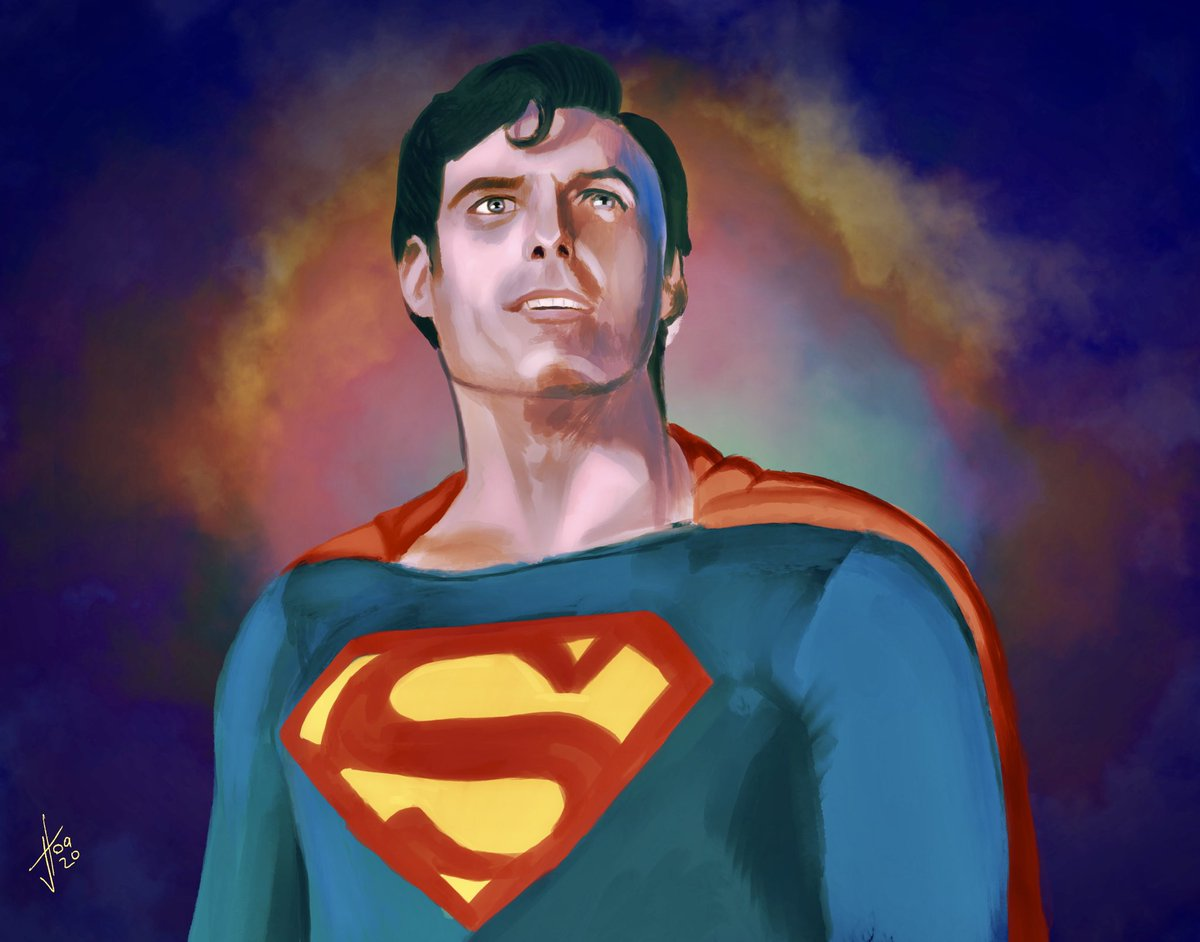 Drew this #Superman today. I'm LOVING the new gradient maps in #procreate. Serious game changer. #ChristopherReeve #applepencil #ipadpro https://t.co/9qdqAlJ2yp