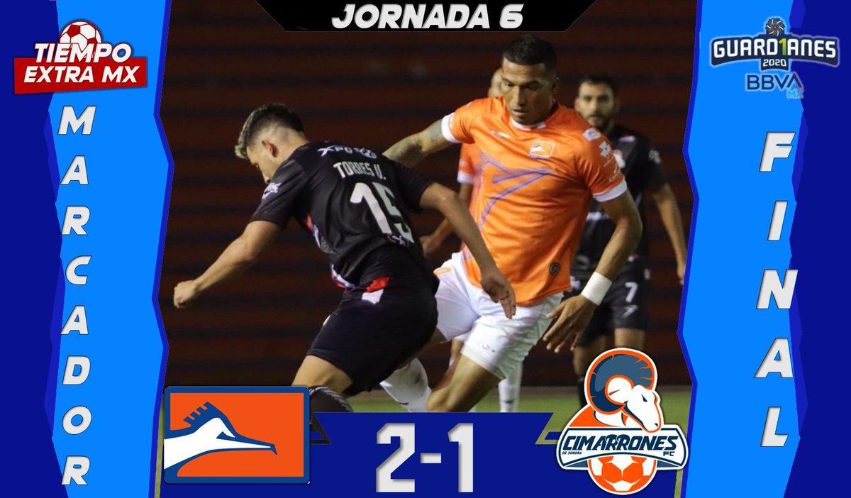 |FINAL| #LigaBBVAExpansiónMX  Contundente victoria de @CFCorrecaminos frente a @CimarronesFC   #Guard1anes2020 | #Jornada6  #MásAlláDe90Minutos https://t.co/sbIIAZIqYO